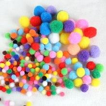 Bolinhas coloridas de vários tamanhos, bolinhas coloridas, vestuário, feito à mão, macio, fofo, bolinhas, diy, acessórios de brinquedos para crianças