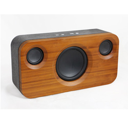 Portable Bamboo Bluetooth Speaker Wireless Speaker Subwoofer Sound System Stereo Music Around Outdoor