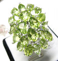 Peridot ring Natural real peridot 925 sterling silver Handworked rings Luxury jewelry 0.7ct*20pcs gems #16092903