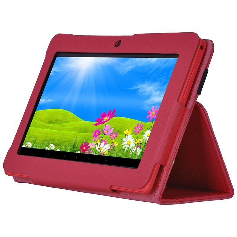 Hot selling 7 inch Folio PU Leather Case Cover Stand Q88 Google Android Tablet PC MID - KINGWELL TECHNOLOGY store