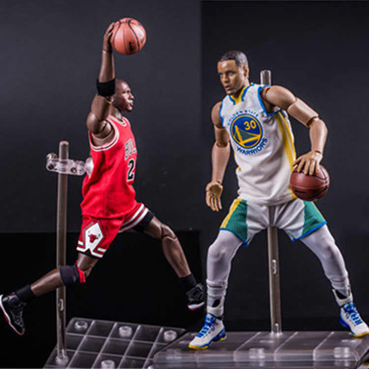 0eee9fd0cb3e Detail Feedback Questions about NBA Michael Jordan Chicago BULLS Number 23 Stephen  Curry 30 Action Figure Toy PVC 1 9 Collection Model Dolls Action Figure ...