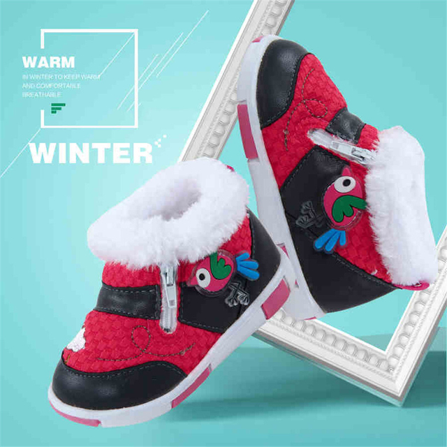 Winter Baby Warm Sneakers Girl Newborn Boy Zapatillas Sneakers Light Designer Kids Cute First Walker Anti Slip Footwear 70A1028