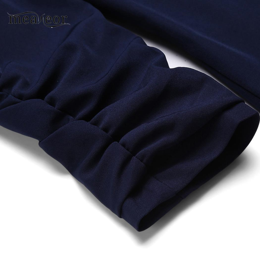 meaneor Slim Casual Turn-down Collar Long Sleeve Solid Asymmetrical Hem Women Fit Blazer Outwear