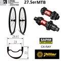27 5 er Carbon MTB Bike Laufradsatz 28mm Breite XC Felge für 650B Mountainbike Rad DT Schweizer 240 Hub center Lock 6 Bolzen-in Fahrrad-Rad aus Sport und Unterhaltung bei
