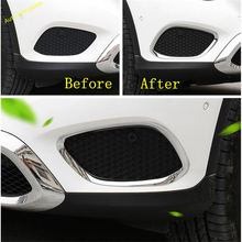 Lapetus Front Fog Lights Lamps Foglight Decoration Cover Trim Fit For Mercedes Benz GLC X253 2016   2019 ABS / Auto Accessories