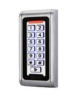 IP68 키패드 RFID 125 키로헤르쯔 액세스 제어 시스템 근접 카드 독립 2000 사용자가 도어 액세스 제어 방수 금속
