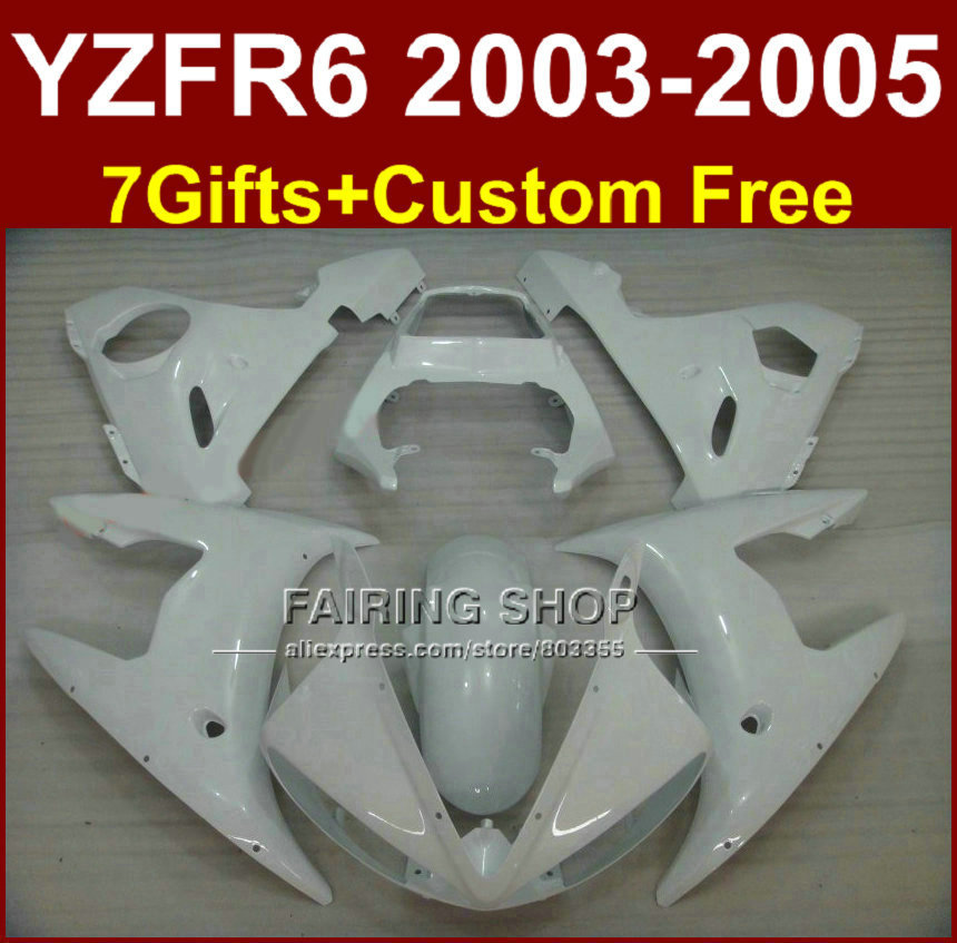 DEW white body repair parts for YAMAHA R6 fairing kit 03 04 05 fairings YZF R6 2003 2004 2005 Motorcycle sets WI7 red black moto fairing kit for yamaha yzf600 yzf 600 r6 yzf r6 1998 2002 98 02 fairings custom made motorcycle bodywork c821