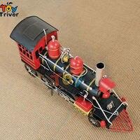 High Simulation Handmade 1870 Black Steam Locomotive Train Model Creative Vintage Craft Valentine S Gift Toy