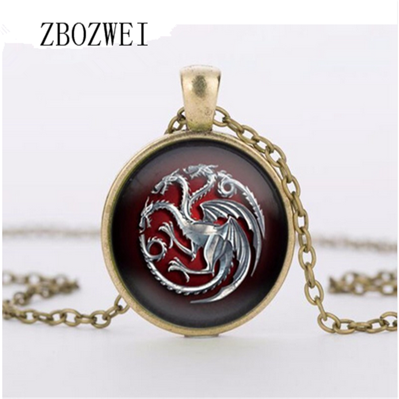 3 colors glass pendant throne game tangolian glass movie necklace necklace jewelry summer jewelry