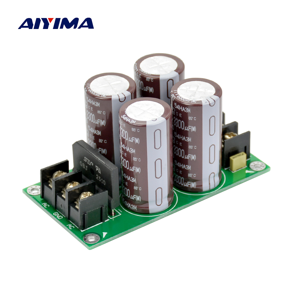 High Power Amplifier Rectifier Filter Fever Capacitor Filter Power Amplifier Board Audio Rectifier Power Supply power audio 4channels amplifier blue board amplifier with 3300uf capacitors
