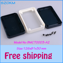 2 piece/lot  Free shipping plastic electrical box  plastic enclosures abs box  plastic enclosure for electronic 126x81x30 mm