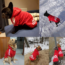 Одежда для больших и маленьких собак, одежда для щенков, жилет с капюшоном для французского бульдога, зимняя одежда для мопса, аксессуары для домашних животных CL0001