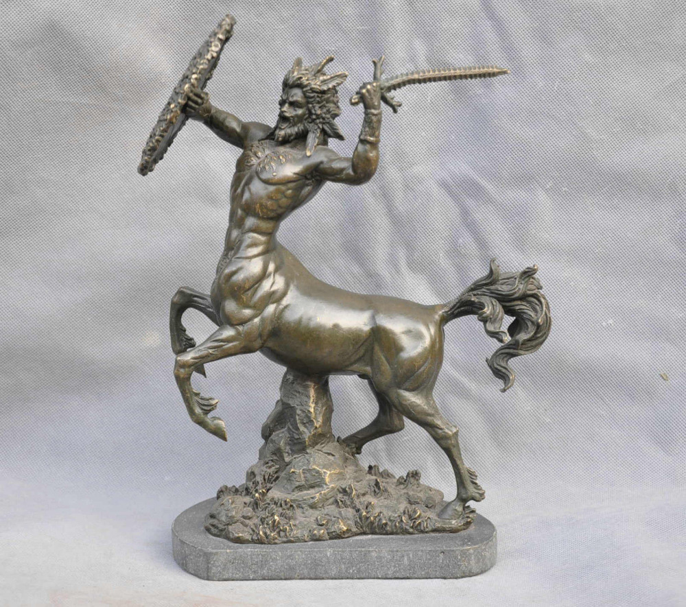 Bi003805 13 animali mitologia greca bronzo mitico testa di - Mitologia greca mitologia cavallo uomo ...