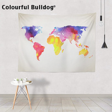 Buy vintage fabric map and get free shipping on aliexpress bohemian beach accesories tapestry colored world map vintage compass yoga mats map print fabric bedroom decor gumiabroncs Images