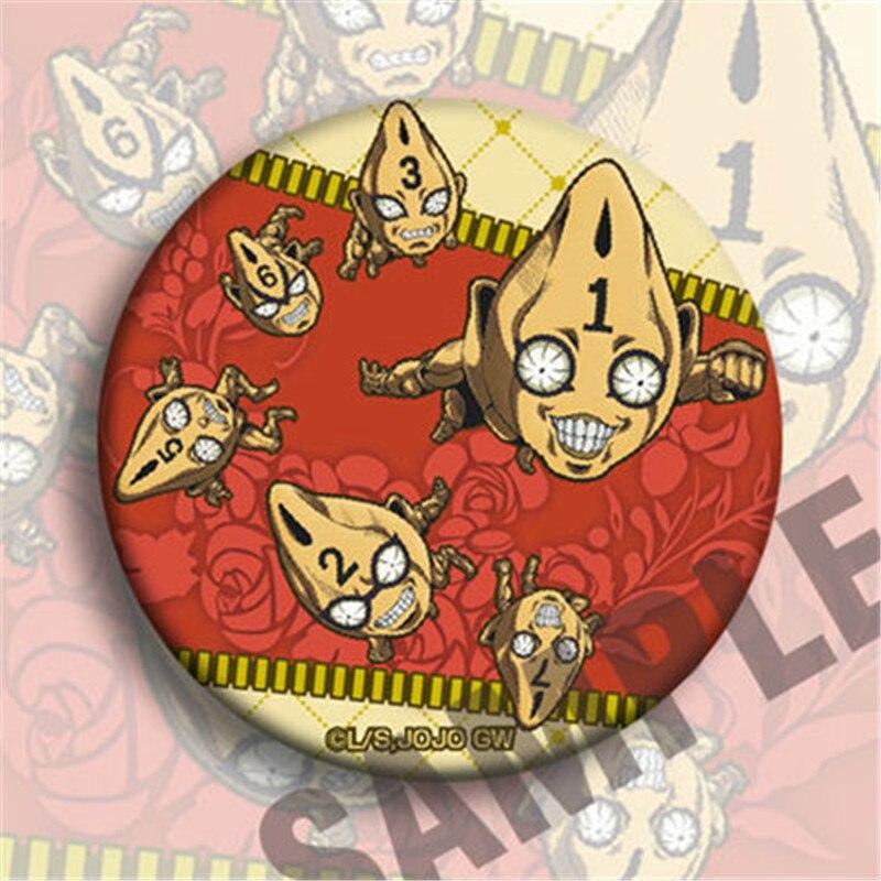 12pcs JOJO/'s Bizarre Adventure Golden Wind Giorno Bruno Pin Button Bedge Badge