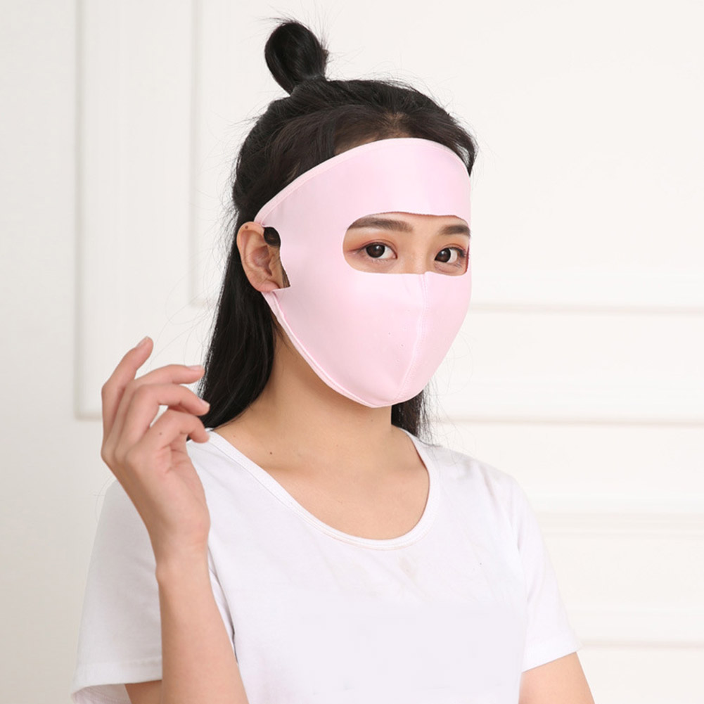 Women Men Summer Sunscreen Face Mask UV Protection Sweat-absorption Masks Washable  Anti UV Outdoor Equipment