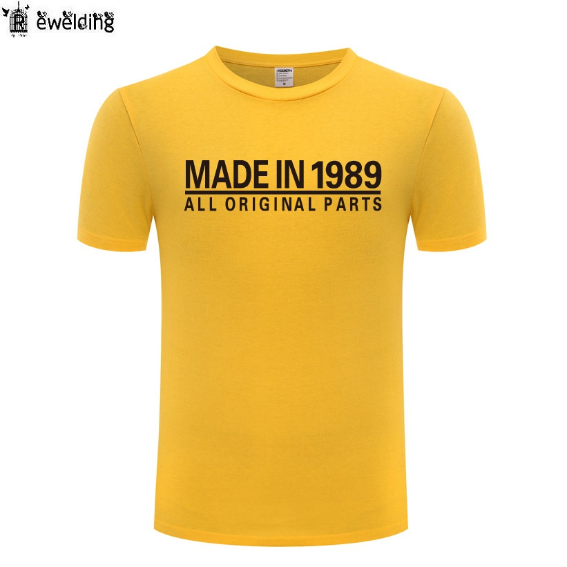 3321088e3fcd Made In 1989 All Original Parts Printed T Shirt Men Funny Cotton Short  Sleeve Tshirt Novelty