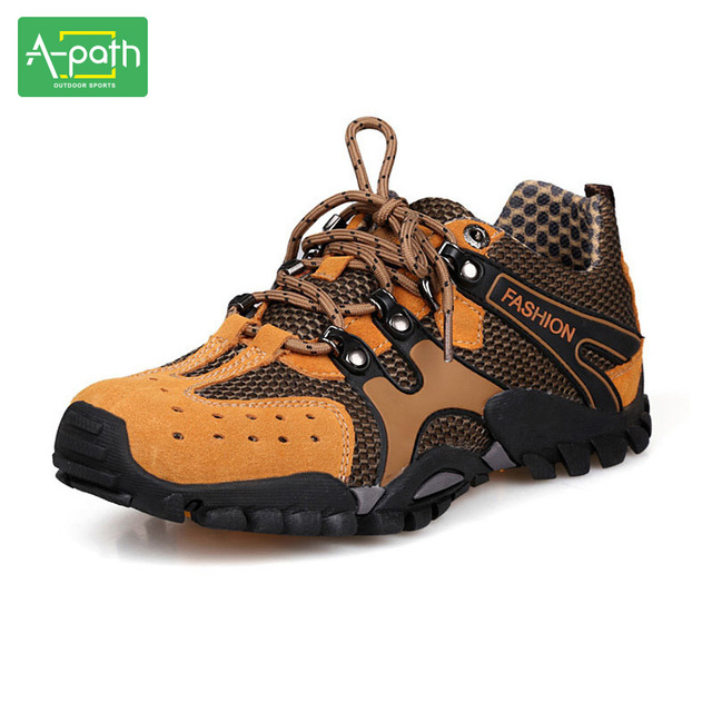 2017 New Style Frosted Leather Outdoor Hiking Shoes Cross-country Shoes Anti -skid Shock