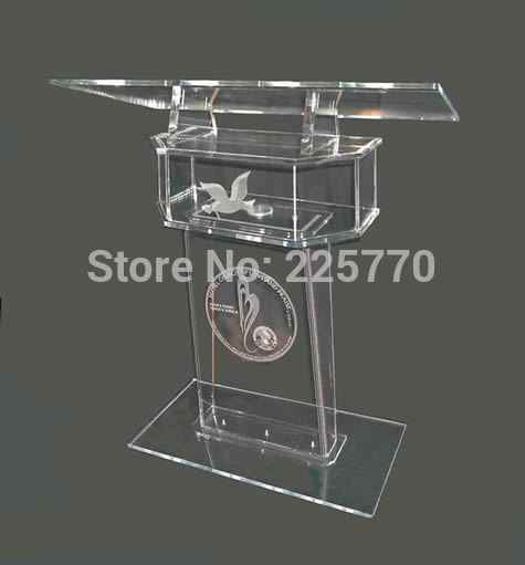 Free Shipping Hot Sale Customized Acrylic Church Lectern / Pulpit / Lectern / Podium Church Pulpit