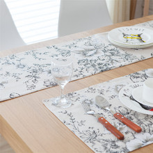 Nodic Solid Print Table Runner Flag Wedding Decoration Rectangle Cover Modern Banquet Tablecloth Home