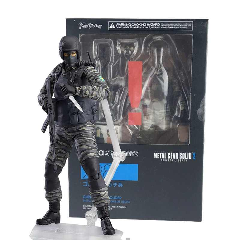 METAL GEAR SOLID 2: SONS OF LIBERTY figuras Figma 298 Action Figure Toy Modelo com caixa de GOLPE