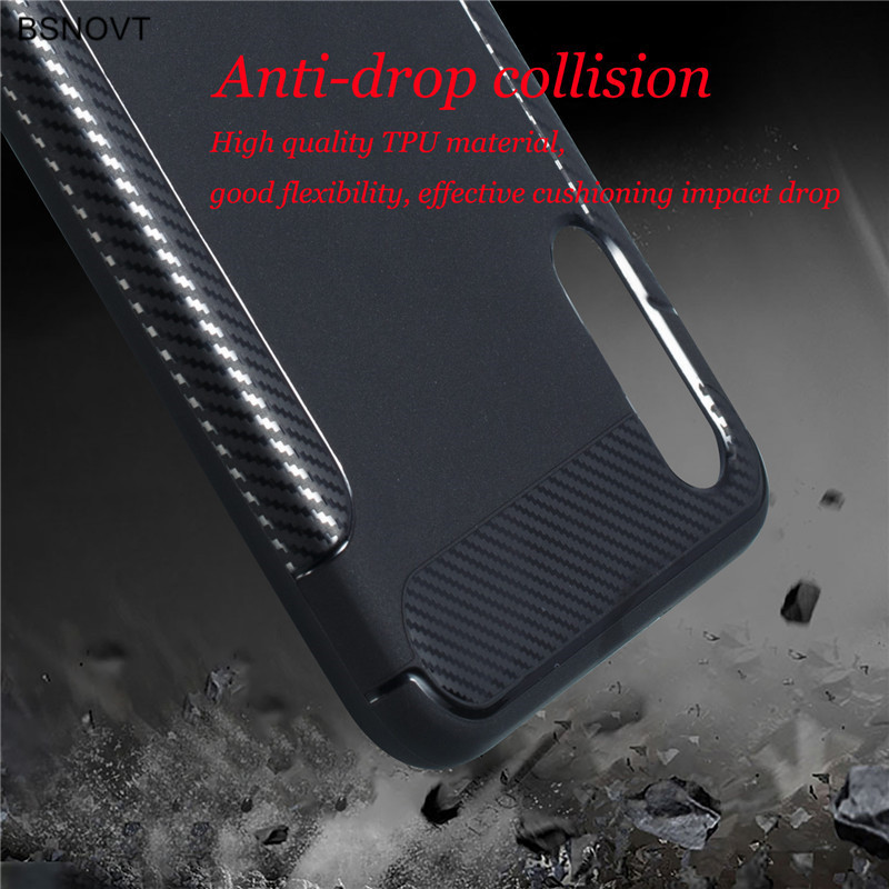 For Cover Samsung Galaxy M10 Case M105F TPU Carbon Fiber Silicone Case For Samsung Galaxy M10 Cover For Samsung M10 Case BSNOVT