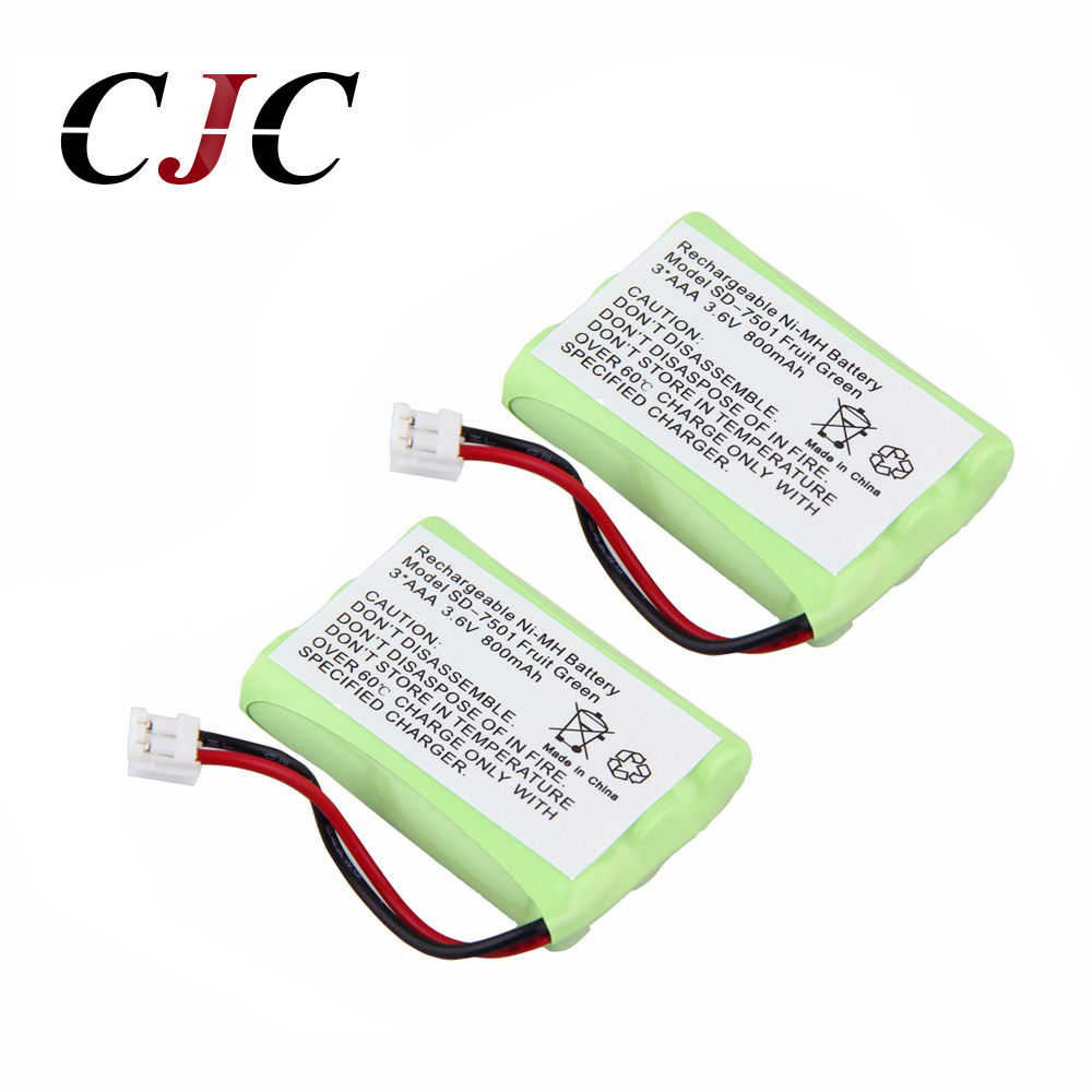 2pcs Cordless Phone Battery Replacement <font><b>AAA</b></font> 800mAh 3.6V <font><b>Ni</b></font>-<font><b>MH</b></font> for <font><b>V</b></font>-Tech for Motorola SD-7501/7500 image