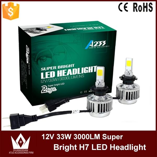 ФОТО Cheetah 2015 led headlight 33w 3000lm led H7 Car LED lights auto H7 led headlight bulb free shipping