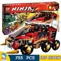 755 Шт. Бела Ninja 10325 ДБ Х Ня Pythor Кай Мастера Кружитцу Ниндзя Строительный Блок Игрушки Совместим С Lego