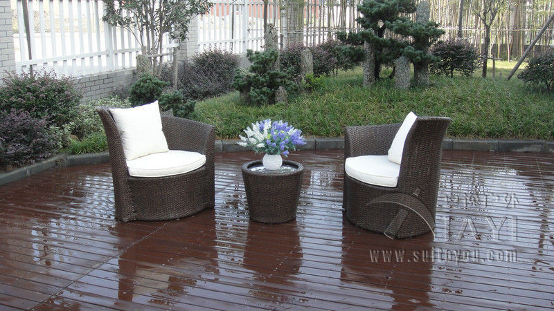 3 pcs Outdoor Garden Brown PE Rattan Obelisk Chair With Aluminum Frame transport by sea hand woven brown resin wicker rocking chair for outdoor garden transport by sea