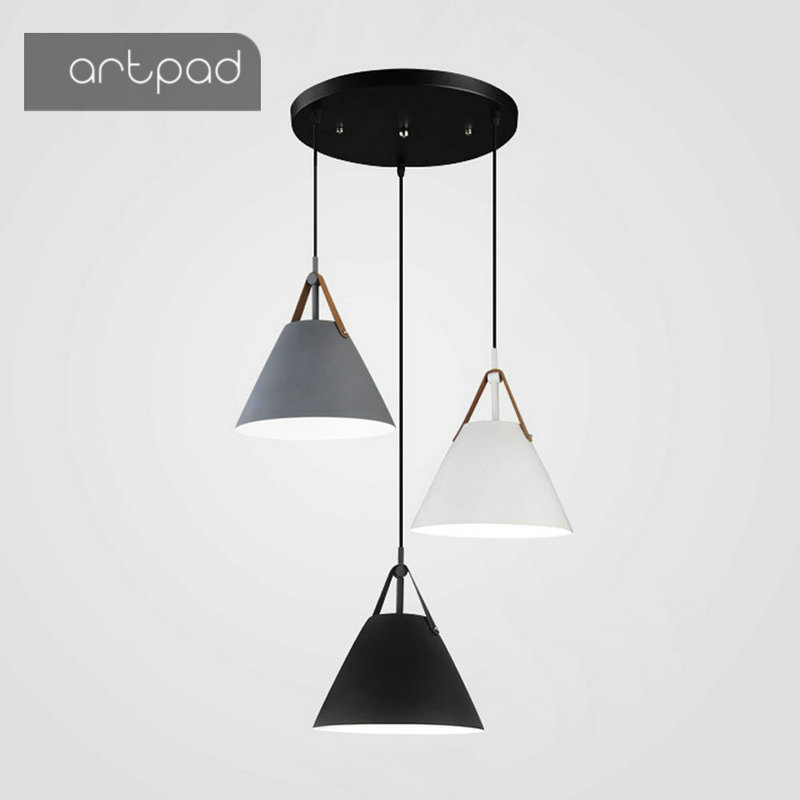 Artpad Minimalist Nordic Pendant Lamp Creative Design Bar Counter Dining Room Bedroom Lighting Fixtures E27 LED Hanging LightsArtpad Minimalist Nordic Pendant Lamp Creative Design Bar Counter Dining Room Bedroom Lighting Fixtures E27 LED Hanging Lights