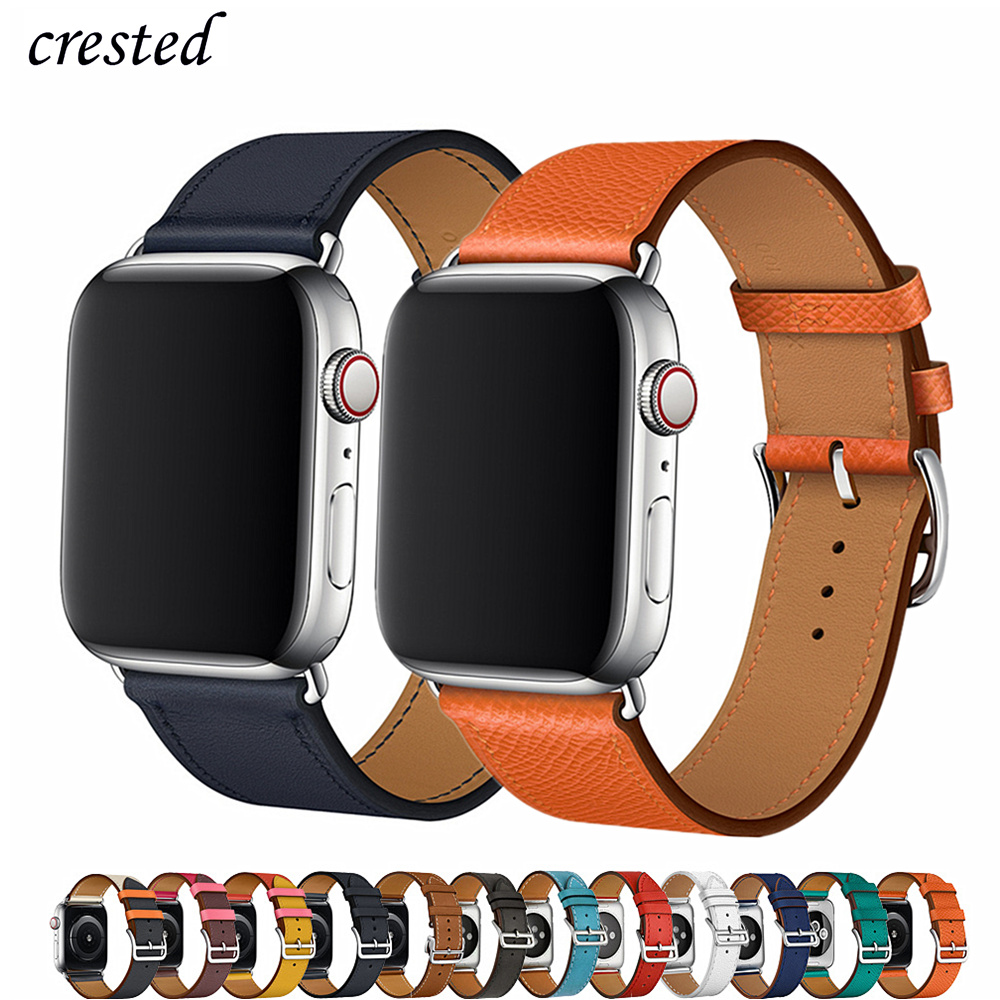 Leather Strap For Apple Watch 5 Band 44mm 40mm IWatch Band 38mm 42mm Genuine Leather Single Tour Bracelet Apple Watch 4 3 2 1 44