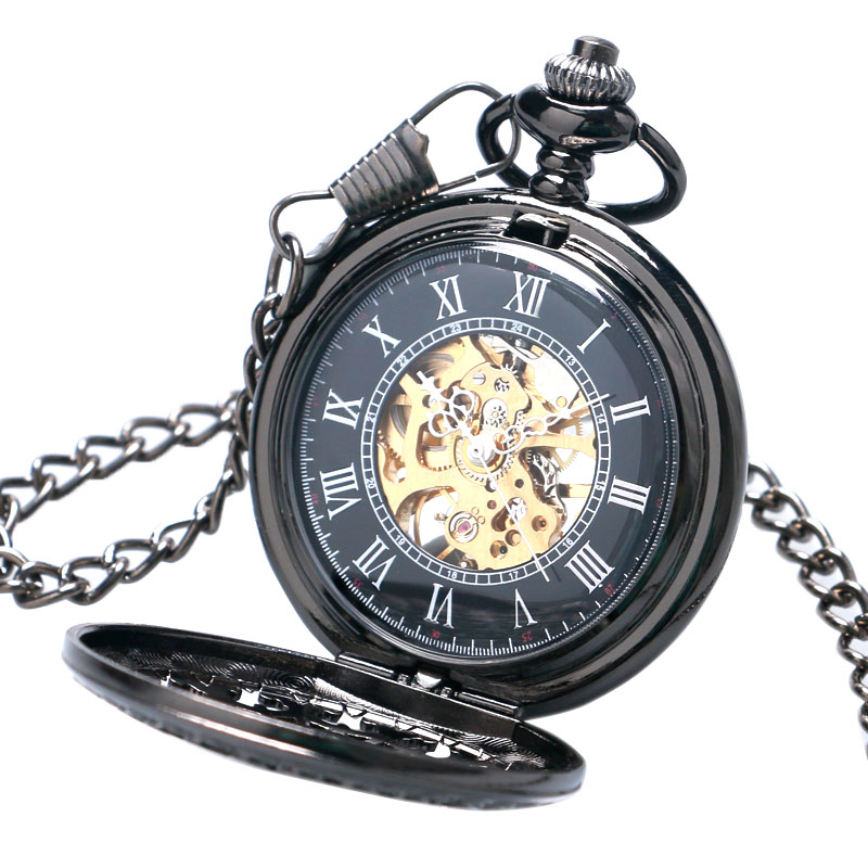 Image 4 - Hollow Semi Automatic Mechanical Pocket Watch Gift Sets for Men Women Necklace Pendant Clock Birthday Presents P825WBWBmechanical pocket watchpocket watchpocket watch set -