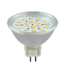 цена на led light led lamp Spotlight Bulb 4W  MR16 GU5.3 18SMD 2835 DC12V Warm White 300LM While the glass lamp cup 1PCS JTFL119-1