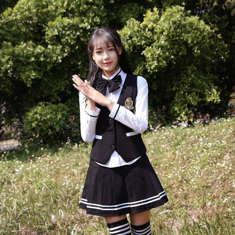 Uniformes scolaires féminins ensemble 2019 nouveau style japonais homme étudiant gilet costume collège vent étudiant uniformes jk uniformes marin costume