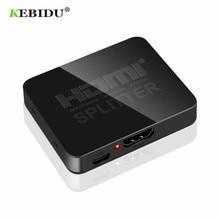 KEBIDU HDMI 1 en 2 salidas 1080p 4K 1x2 HDCP separador 3D amplificador de señal de potencia 4K HDMI divisor para HDTV DVD PS3 Xbox