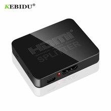 KEBIDU HDMI 1 in 2 out 1080p 4K 1x2 HDCP striptizci 3D Splitter güç sinyal amplifikatörü 4K HDMI dağıtıcı HDTV DVD için PS3 Xbox