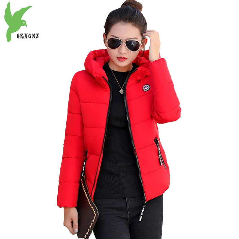 Winter short   parkas   women Down cotton jacket Plus size 5XL hoodies tops female Thick warm coat students Loose cotton jacket 2123