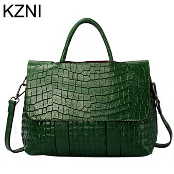 KZNI Genuine Leather Purse Crossbody Shoulder Women Bag Clutch Female Handbags Sac a Main Femme De Marque  L122537