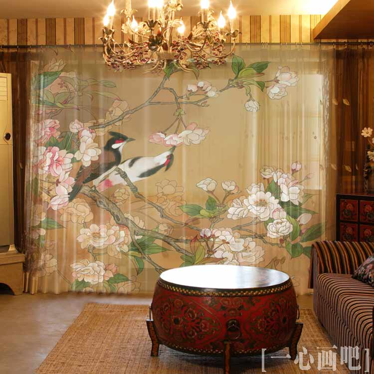 Chinese Printing Luxury Vintage Style Light Shade Window