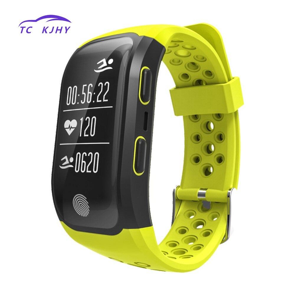 2018 Auto Bluetooth GPS Tracker Bracelet professionnel étanche Bracelet intelligent moniteur de fréquence cardiaque Fitness Tracker bande intelligente