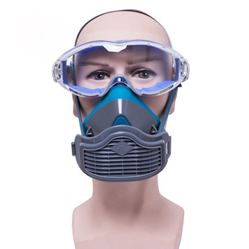 Health Care Dusk Masks Anti Dust Respirator Filter Mask Pm2.5 Protective Breather Valve Facepiece Painting Spraying Industrial Pesticide Personal Health Care