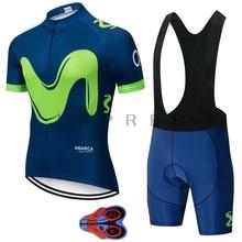 2019 New Pro Team Uniform Movistar Cycling Sets Maillot Ropa Ciclismo Jersey Men Summer Bike Jersey Set Bike Bicycle Wear 9D GEL цена и фото
