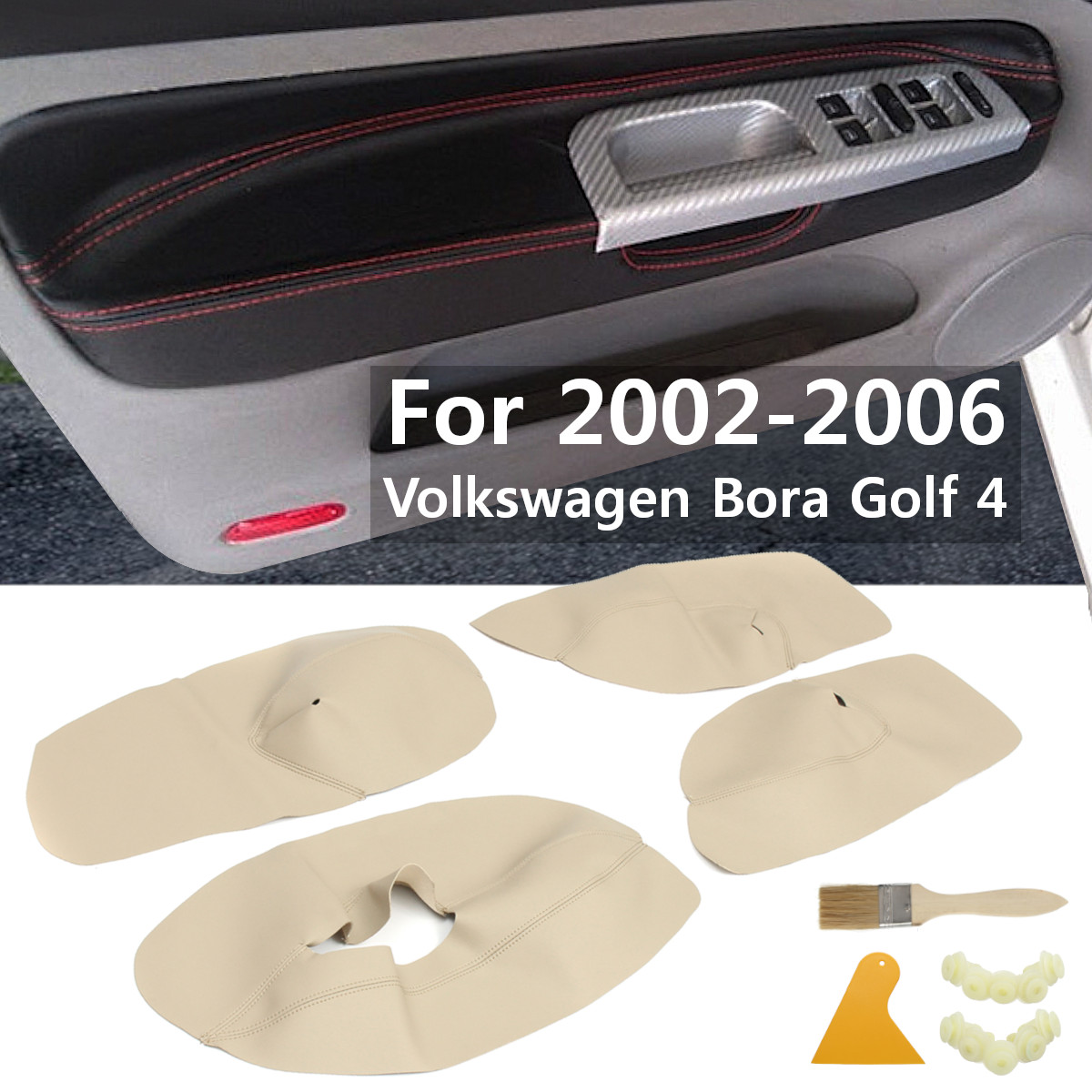 4Pcs Car Interior Door Panel Armrest Arm Rest Microfibre Leather Cover Protective For Volkswagen Bora Golf 4 2002-20064Pcs Car Interior Door Panel Armrest Arm Rest Microfibre Leather Cover Protective For Volkswagen Bora Golf 4 2002-2006