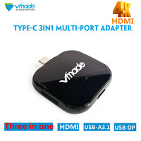 Vmade 3 Port Micro USB Hub 3.1 USB Splitter High Speed 480Mbps HDMI PD CHARGE port USB Hub For Tablet Laptop Computer Notebook