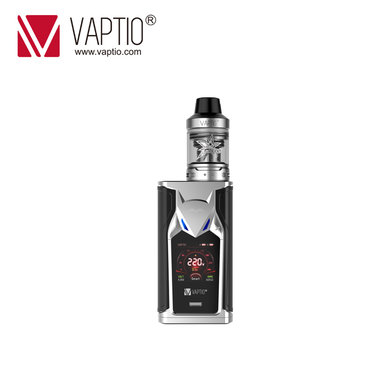 GIFT VAPTIO SUPER BAT 220W Vape kit electronic cigarette 220W Box MOD 0.1ohm to 5.0ohm coils head 2.0ml tank 510 thread Vape Mod