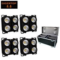 TIPTOP Cases Aluminum Hard Case Black 400W Warm white/Cold White/RGBW Led Background Light Matrix Blinder Lighting 110V 220V