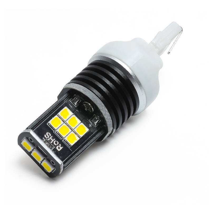 Keyecu T20 7443 LED 6000K Pure White 2835 15-SMD For Backup Reverse Stop Lights strong light intensity and low current output