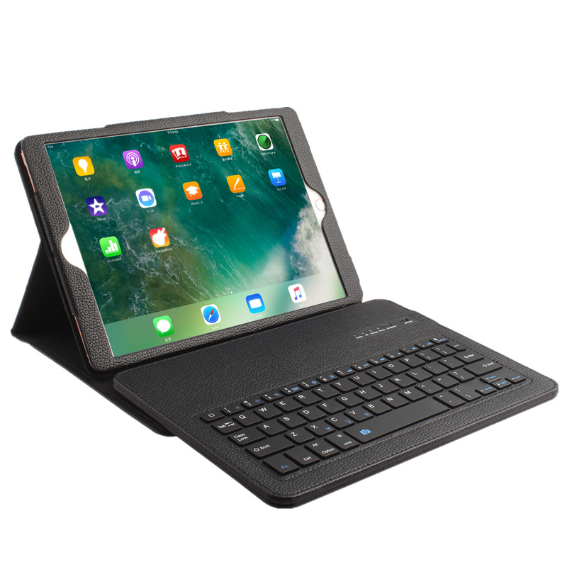 Keyboard Case for iPad Pro 10.5 Detachable Wireless Bluetooth Keyboard+PU Leather Tablet Case Cover Stand Smart Shell Bag Coque for ipad pro 12 9 keyboard case magnetic detachable wireless bluetooth keyboard cover folio pu leather case for ipad 12 9 cover