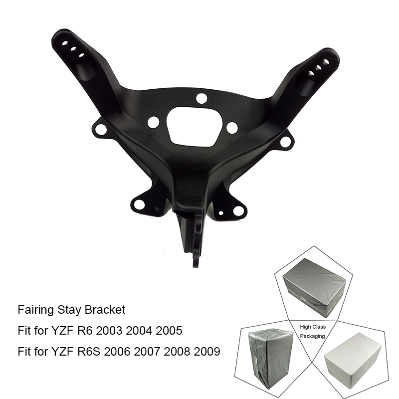For Yamaha YZF R6 2003 2004 2005 and R6S 2006 2007 2008 2009 Motorcycle Upper Front Headlight Fairing Stay Bracket Holder New  motorcycle front headlight headlamp support bracket upper fairing cowling stay holder for 2003 2004 2005 yamaha yzf r6 rj05 rj09